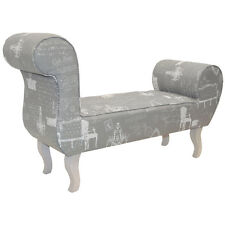 PARISIAN - Lounger Bench / Chaise Chair - Grey / Cream OCH5006