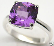 Lab simulated Alexandrite Silver Ring Mar #152