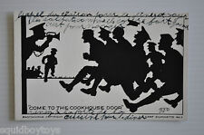 - CAMP SILHOUETTE vintage MILITARY POSTCARD Come to the Cookhouse Door -