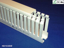 """1 New 1""""x3""""x2m Narrow Finger Open Slot Wiring Cable Raceway Duct Cover,PVC,White"""