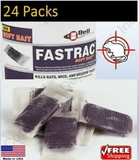 24 Packs - Fastrac Soft Bait Rat Mouse Rodent Vole Mice Poison Bromethalin Fresh