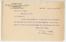 1902 Leonard & McCoy Letterhead NY Mill Machinist Miner Railway Electric Supply
