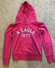 AMERICAN EAGLE HOODIE HOODED PULLOVER SWEATSHIRT PINK SIZE SMALL