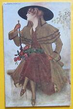 Cartolina d'epoca Donna - Corbella - postcard - cpa - Postkarte -