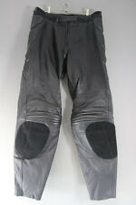 HEIN GERICKE STREETLINE LEATHER BIKER TROUSERS/ARMOUR SIZE 18: WAIST 34/LEG 32IN