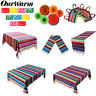 Serape Cotton Tablecloth Table Runner Paper Fan Banner Mexican Party Supplies