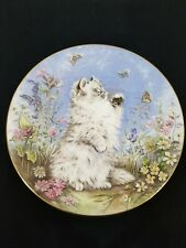 """""""Flutter By"""" by Pam Cooper Kitten Encounters Plate Collection Royal Worcester."""