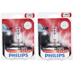 2 pc Philips High Low Beam Headlight Bulbs for Toyota 4Runner Avanza Camry jf