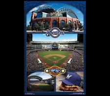 Milwaukee Brewers MILLER PARK CELEBRATION MLB Baseball Stadium Wall POSTER
