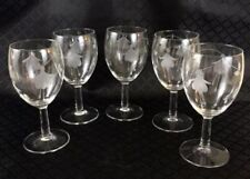 Etched Contemporary Original Crystal & Cut Glass
