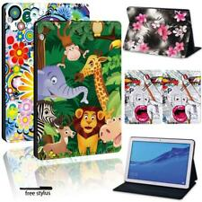 For Huawei MediaPad T3 8 10 / T5 10 - Folio PU Leather Stand tabet Cover Case