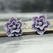 Hot Colourful Vintage Cameo Resin Dahlia Flower Cabochons fit Cabochons Settings
