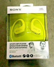 Sony NW-WS623 4GB Bluetooth Waterproof Active MP3 Player Headset - Yellow New