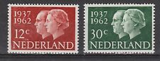 NVPH Nederland Netherlands 764 - 765 MNH 25 year marriage Juliana 1962 Royalty