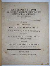 MEDICINA - ediz 1764 - BILE - Schroder - gottinga