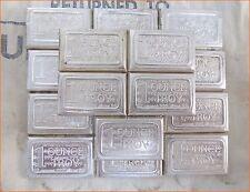 """1 Oz .999 Silver Vintage Bar """"U.S.V.I INGOT CO. CANDY -STACKABLE """" Art Bar G111"""