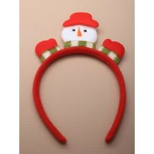 NEW Red Snowman on Red aliceband fancy dress Christmas Celebrations