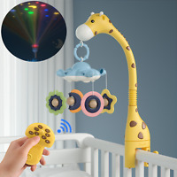 Baby Nursery Crib Musical Mobile Bed Hanging Teether Rattle Toy StarLight+Remote