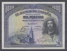 Spain, Bank of Spain, P-78, Ef. 1928 1000 Pesetas Banknote