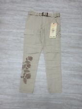 NEW Da-Nang Women's Casual Pants Beaded W/ Belt BUFF BCG5436M077 Size: SMALL