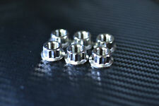 CBR R1 R6 Ninja GSXR F3 B3 Titanium 12 point sprocket nuts x 6