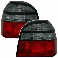 SMOKED & RED REAR TAIL LIGHTS LAMPS FOR VW GOLF MK3 MK 3 III 1991-1998 NICE GIFT