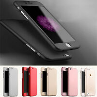 Full Cover für iPhone 5/5s/SE/6/6s/Plus 360° Schutz Hülle Bumper Case Panzerglas
