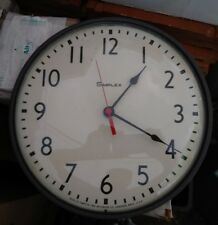 """Vintage Simplex Industrial SchoolWall Clock 95925 13"""" Converted to Battery"""