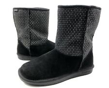 Skechers Australia Womens 10 Black Suede Pull On Mid Calf Winter Boots Shoes EUC