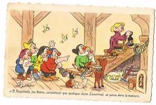 CPA BLANCHE NEIGE ET LES 7 NAINS N° 9
