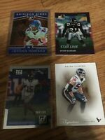 Serial Numbered Football card lot (4 cards)