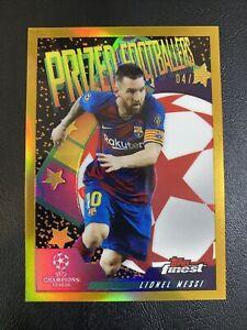 Lionel Messi 2019 Topps Finest Prized Footballers GOLD #04/50 SSP Barcelona GOAT