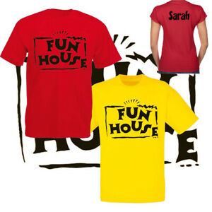 FUN HOUSE TV SHOW GAMES MENS,LADIES FIT T-SHIRT TOPS NEW YOUTUBE 80's 90's FUN