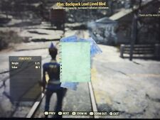 Fallout 76 PS4 (10x) Backpack Plans Bundle. (5x) Lead Lined + (5x) Armor Plated.