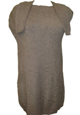 "TRANSAT BOUTIQUE PULL TUNIQUE ""SUSY MIX"" MITAINES TAUPE TAILLE S/M = 38/42-PROMO"