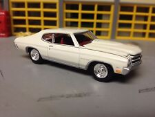 1/64 1970 Chevy Chevelle SS454 in White with Red Int with Rubber Tires on Rallys