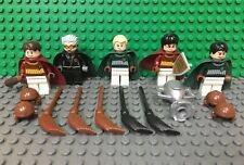 LEGO Quidditch Match (4737) Harry Potter Minifigure Lot of 5 Minifigs and Brooms