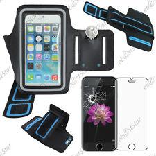 "Housse Coque Etui Brassard Sport Armband Noir Apple iPhone 6S 4,7"" + Verre"