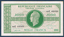FRANCE - 1000 FRANCS - TRÉSOR CENTRAL - VF n° 13.2 de 1945 en TTB/SUP 88E 486996