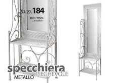 SPECCHIO SPECCHIERA H184*50*29 CONSOLLE PIEGHEVOLE METALLO SPECCHIO IRO 709456