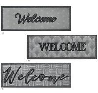 Zerbino gomma antiscivolo 25x70 welcome tappeto asciuga passi porta entrata