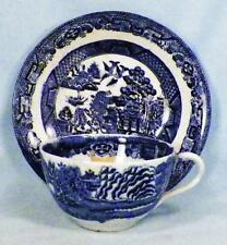 Antique Blue Willow Cup & Saucer Barker Bros. England As Is