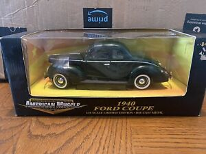ERTL AMERICAN MUSCLE 1940 FORD DELUXE COUPE 1/18 Die Cast!! Green!!!