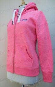 Superdry Ladies ZipHood Hoody Hoodie Orange Label Full Zip Snowy Pink S M L BNWT