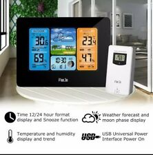 Digital LCD Weather Station Wireless FJ3373 Indoor Outdoor Thermometer Wall