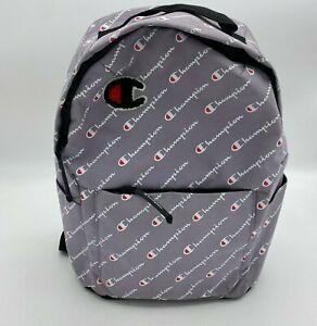 Champion Kids Bagpack Preowned Lilac Logo Printed Bag