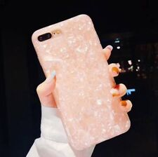 For iPhone X XS Marble Shockproof Silicone Protective Case Cover Pink
