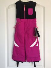 "SPYDER Bitsy Expedition Girls Snow Bib Pants, Sz.3, LENGTHENS by 2"", NWT"