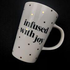 Teavana 2014 Infused with Joy white gold polka dot dotted coffee tea ceramic mug