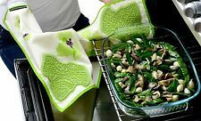 Charles Viancin 2 in 1 Grape Leaves Chef Kitchen Towel & Silicone Potholder